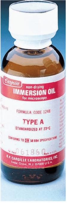 Huile à immersion Type A Faible viscosité (huile très fluide)
