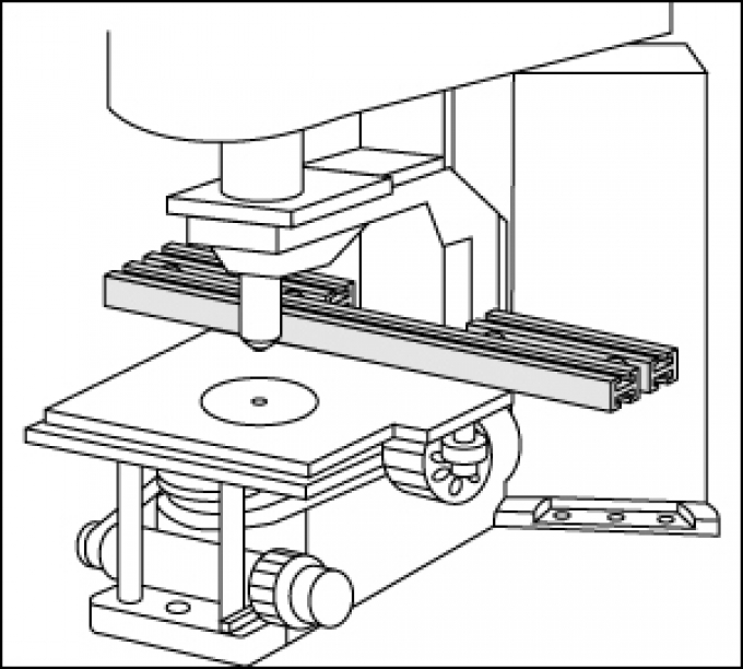 Pièce d'adaptation sur microscope